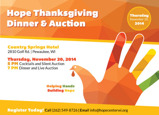 Join Southminster at the Hope Center Dinner and Auction!